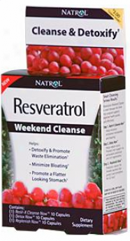 Natrol's Resveratrol Weekend Cleanse 30 Caps