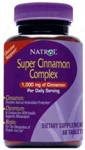 Natrol's Super Cinnamon Complex 60 Tabs