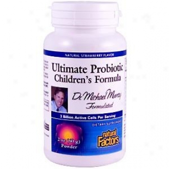 Natural Fatcors Dr. Murray's Ultimate Probiotic Children's Formula Natural Strawberry Powder 2oz 30% Off