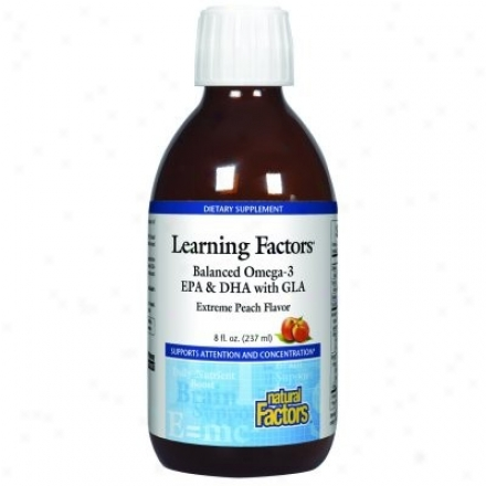 Natural Factors - Learning Factors Balanced Omega-3 Extreme Peach Flavor 8oz 30% Off