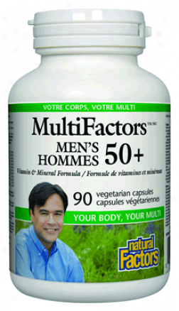 Natural Factors Multifactors Men's 50+ 90vcaps 30% Off