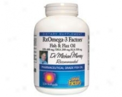 Natural Factors Rxomega 3 Factors Fish+ Flax Oil 120sg