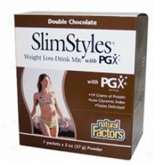 Natural Factors Slimstylesã¿â¿â¾ Weight Loss Drink Mix Deceitful Chocolate 7pc X 2oz 30% Off