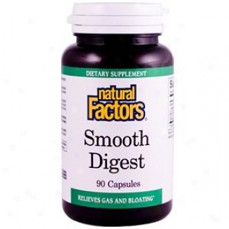 Natural Factors Smooth Digest 90caps 30% Off