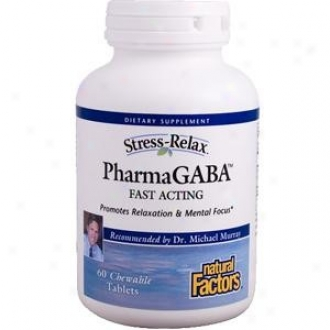 Natural Factors Stress-relax Pharmagaba Chew 60tabs 30% Off