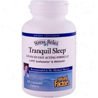 Natuural Factors Stress-relax Tranquil Sleep Chew 60tabs 30% Off
