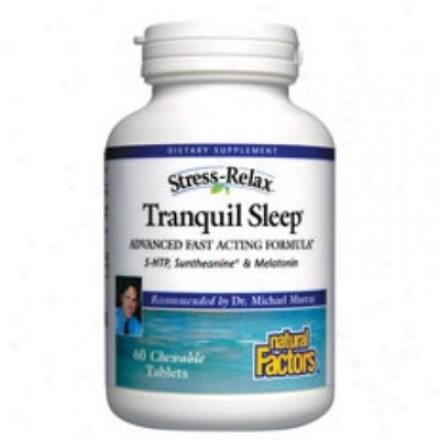 Natural Factors Stress Relax Tranquil Sleep Enteric 90sg 30% Off