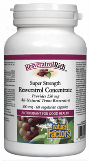 Nautral Factors Supdr Strength Resvereatrol Concentrate 60vcaps