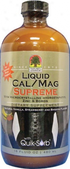 Nature's Answer's Liquid Cal/ma Suupreme Natural Flavors 16 Fl Oz