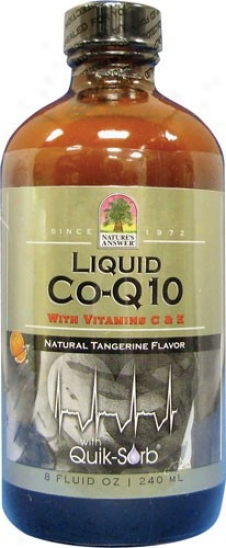 Nature'e Answer's Liquid Coq10 W/ Vitamins C & E 8 Fl Oz