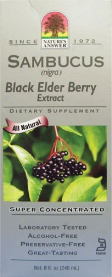Nature's Answer's Original Sambucus Black Elder Berry Suppr Cncntrtd 5000mg 8oz