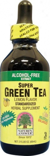 Nature's Answ3r's Super Green Tea Lemon 2 Fl Oz