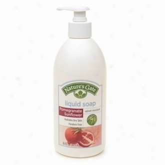 Nature's Gate's Fluid Soap Moisturizing Pomegranate Sunflower 16oz