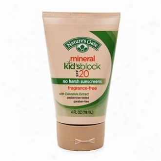 Nature's Gate's Spf 20 Mineral Kid'sblock 4oz