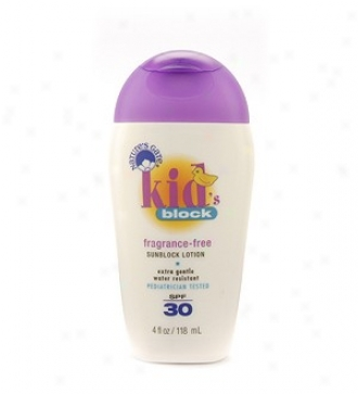 Nature's Gate's Spf 30 Suncare Kid Lotion 4oz