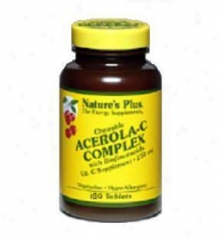 Nature's Plus Acerola-c Cokplex Chewable 250mg 180tabs