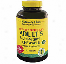 Nature's Plus Adult Exotic Red Fruit Chew 90tabs
