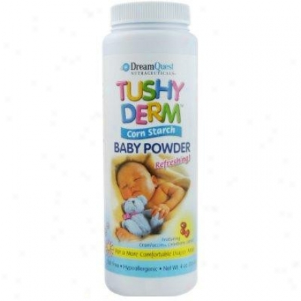Nature's Plus D.q. Tushy Derm Baby Powder Corn Starch (113.4 G) 4os