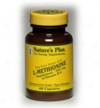 Nature's Plus L-methionine 500mg W/ Vit B-6 60caps