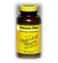 Natur3's Plus Nutri-cal Hearts Chewable 60tabs