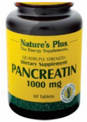 Nature's Plus Pancreatin 1000mg R.r. 60tabs