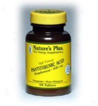 Nature's More Pantothenic Acid 500mg 90tabs