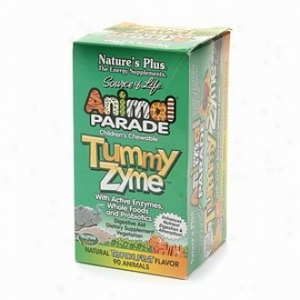 Nature's Plus Source Of Life Animal Parade Children's Tummy Zyme Chew 90tabs