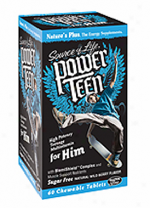 Nature's Plus Source Of Life Power Teen For Him 60chew Tabs