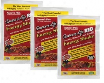 Nature's Plus Source Of Life Red Energy Shake Exotic Red Produce  8pkts