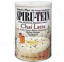 Nature's Plus Spirutein Chai Latte Shake 1.1lb
