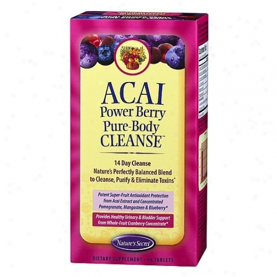 Nature's Secret's Acai Powder Berry Pure-body Cleanse 56tabs