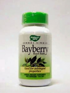 Nature's Way - Bayberry Root Bark 475 Mg 100 Caps