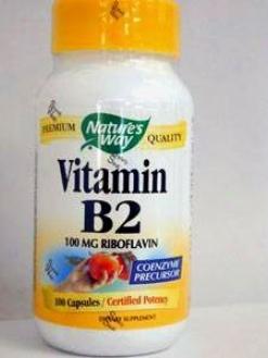Nature's Way - Vitamin B-2 100 Mg 100 Caps