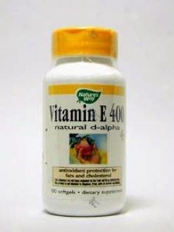 Nature's Way - Vitamin E 400 Iu 100 Gels