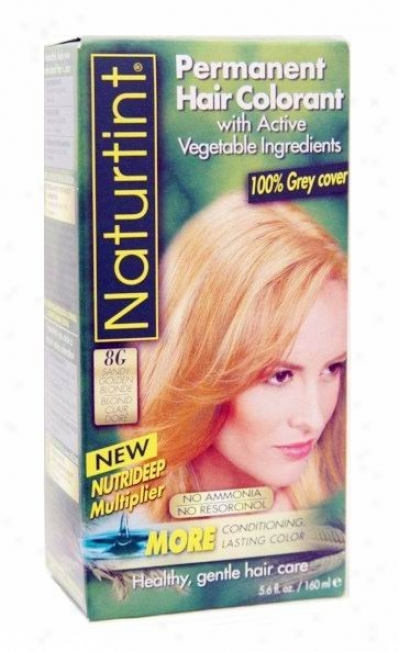 Naturtint's Permanent Hair Colorant, Sandy Golden Blonde 8g Box 4.5oz