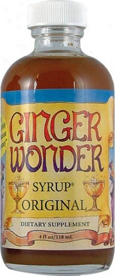 New Chapter's Ginger Wonder Syrup Original 4oz