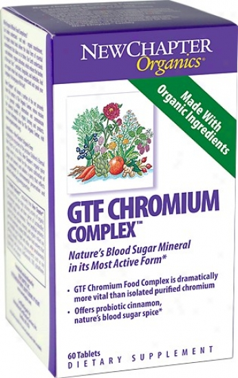 New Chapter's Gtf Chromium Complex 30tabs