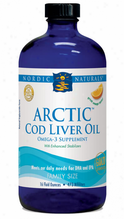 Nordic Naturals Arctic Cod Liver Oi lOrange 16oz