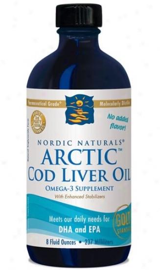Nordic Naturals Arctic Cod Liver Plain Oil 8oz