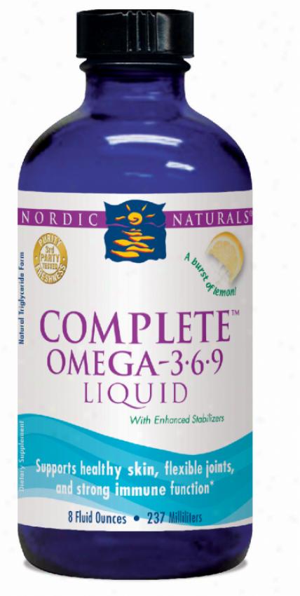 Nordic Naturals Com0lete Omega 3.6.9 Lemon 8oz