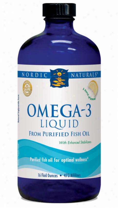 Nordic Naturals Omega-3 Formula Lemon 16oz