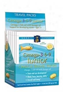 Nordic Naturals Omega 3.6.9 Junior Travel Packs 6pcs