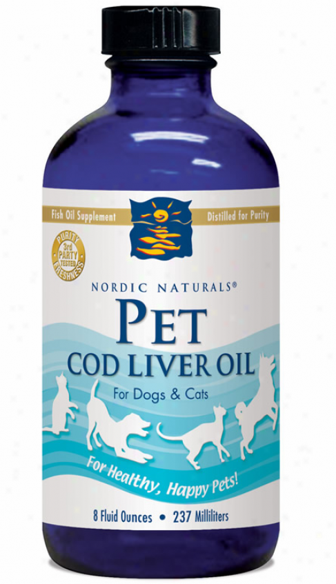 Nordic Naturals Pet Cod Liver Oil- (unflavored) 8oz