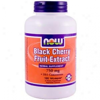Now Foods Black Cherry Fruit Extract 750mg 180vcaps