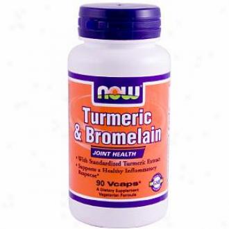 Now Foods Turmeric & Bromelain 90vcaps
