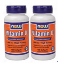 Now Foods Vitamin D 1O00 Iu 180 Sg Twin-pack