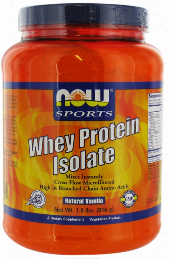Now Foods Whey Protein Vanilla Isolate 2lb Gluten Free