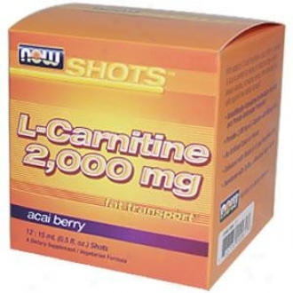Now's L-carnitine + Acai Now Shot 2,000mg 15ml