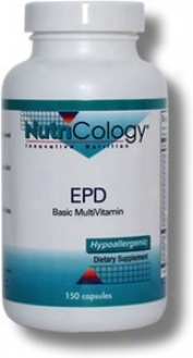 Nutricology's Epd Basic Multivitamin 150vcaps