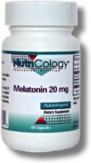 Nutricology's Melatonin 20mg 60vcaps